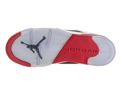 Nike Air Jordan 5 Retro Low (Gs), Zapatillas De Baloncesto para Niños Blanco / Rojo / Negro (White / Fire Red-Black)