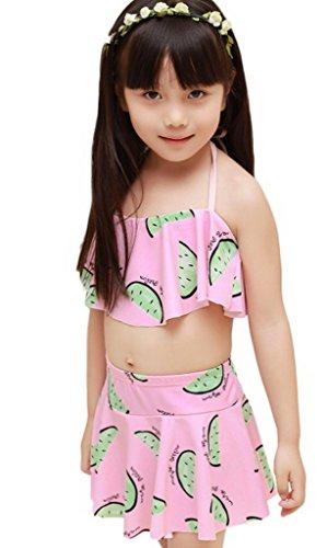 Toyobuy Baby Girls Swimwear Cartoon Tutu Skirt Swimsuit Bathing Bikini XL