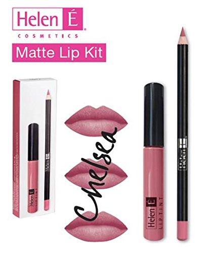 Matte Lip Kit (Chelsea) Helen É Cosmetics