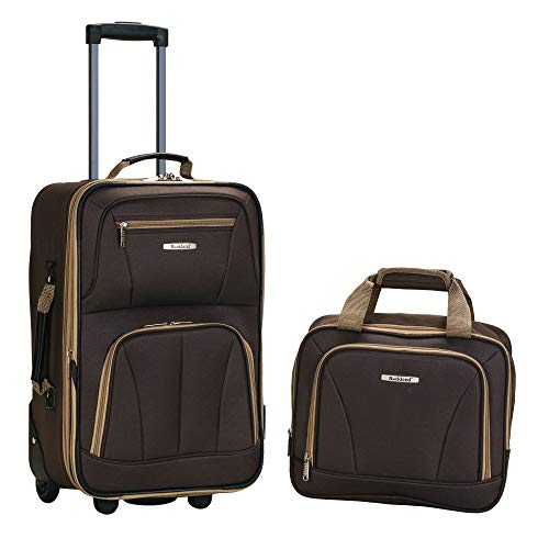 Rockland Luggage 2 Piece Set, Brown, One Size ()