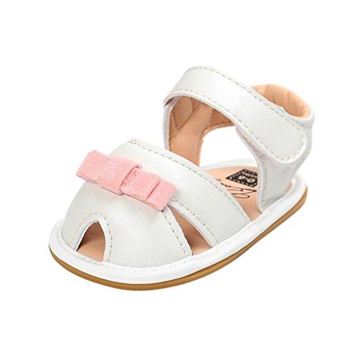 Baby Schuhe Auxma Baby Mädchen Frühling Sommer Prinzessin erste Wanderer Schuhe Sandalen für 3-18 Monate (7-13 M, Gold) Rosa B