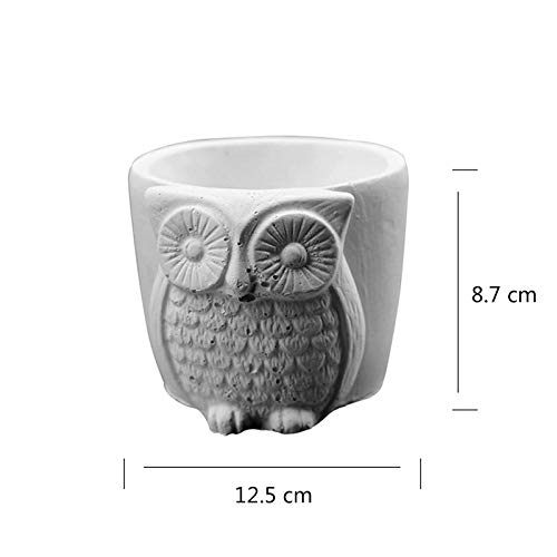 Nicole Flower Pot Silicone Mold Owl Resin Mold Handmade Ashtray Candle Holder Mould