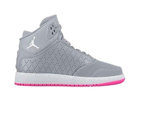 Nike Jordan 1 Flight 5 Prem GG Girls fashion-sneakers 881438-008_5Y - WOLF GREY/WHITE-WHITE by NIKE