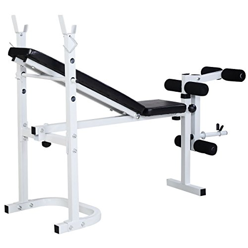 Goplus Olympic Folding Weight Bench Incline Lift Workout Press Home Barbell Academy