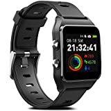 FITVII GPS Smartwatch with 17 Sports Mode Activity Tracker IP68 Waterproof Swimming Touch Screen Watches, Heart Rate Monitor Sleep Trackers with Pedometer Step Calories Counter for Women Men