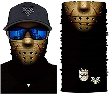 Amazon Com 3d Jason Hogy Face Tube Neck Face Scarf Lower Half Face Mask Motorcycle Bicycle Shield Sun Air Soft Outdoor Biker Riding Masks No 78 Sports Outdoors