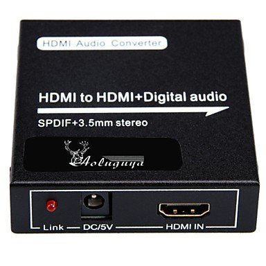 HDMI to HDMI Audio SPDIF COAXIAL 3.5mm Stereo Converter
