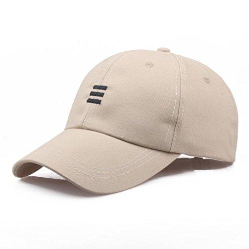 Baseball Cap Men Women - Classic Cotton Dad Hat Plain Cap Low Profile (Beige)