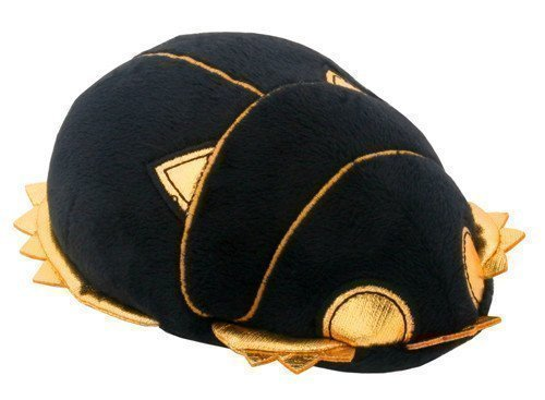 Ebros Small Black & Gold Egyptian Khepera God Atum Dung Beetle Scarab Plush Toy Soft Doll Collectible 5.5