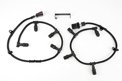 Ford Powerstroke 6.0 Glow Plug Harness Kit Compatible Replacement- Includes Right, Left Harness, Removal Tool - Fits Ford F250 Super Duty, F350, more - 2004, 2005, 2006, 2007, 2008, 2009, - Plug Ford