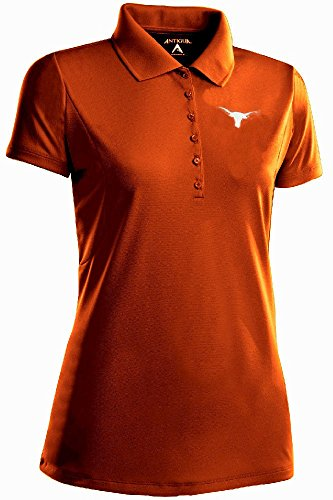 (Antigua Ladies Texas Longhorns Xtra-Light Performance Poly Polo Shirt (M=8-10))