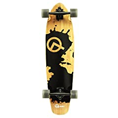Made in Mars, Grounded in L.A. 34-Inch Cruiser Longboard with multi-ply hardwood maple and beautiful Artisan Bamboo deck, rugged aluminum trucks and durable 70mm PU wheels. Huge performance in a compact sized Longboard, gives you the best of ...