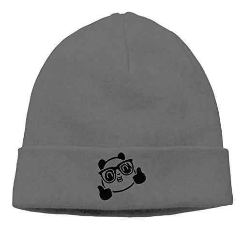 Zlkshop17 Glasses Panda Thumbs Praise Printed Hipster Head Cap Snapback Cap Hip Hop Hat Knit - Hate Glasses Hipster I
