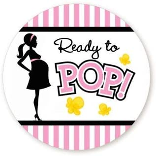 Amazon Com Classic Ready To Pop Stickers Many Sizes Colors To Choose From Ready To Pop Baby Shower Stickers For Popcorn Ready To Pop Stickers For A Girl Or