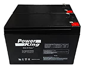 12V 8AH SLA Battery Replaces ep1234w - 2 Pack Beiter DC Power