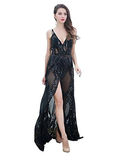 Missord Damen Damen Missord Schwarz Cocktail Kleid qRq8FwS0