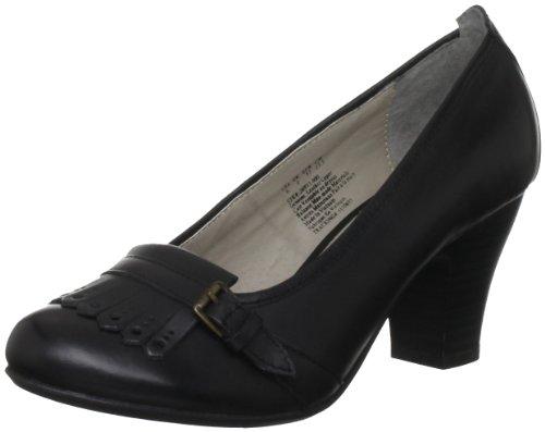Hush Puppies Lolita Pump_kl - zapatos de tacón de cuero mujer negro - negro