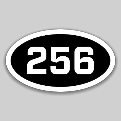 Amazon com: DHDM 256 Area Code Sticker Alabama Huntsville