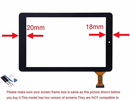 Jahyshow Replacement Digitizer Touch Screen Panel for 10.1 Inch Rca 10viking Pro Rct6303w87dk Rct6303w87 Tablet Pc + 6PCS OPEN TOOL by JahyShow