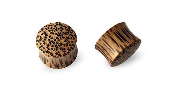 Scrap Metal 23 Pair Coconut Wood Plugs 12mm 15//32
