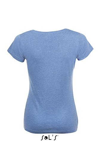 SOL´S Womens T-Shirt Mixed, M, Heather Blue