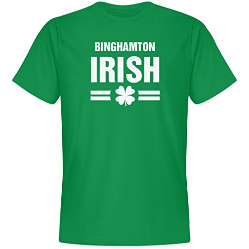 St. Patrick's Day Binghamton Irish Tee: Unisex Next Level Premium T-Shirt Kelly -