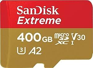 Sandisk SDSQXA1-400G-GN6MA Extreme 400GB microSD UHS-I Card Adapter 160MB/s U3 A2, Black