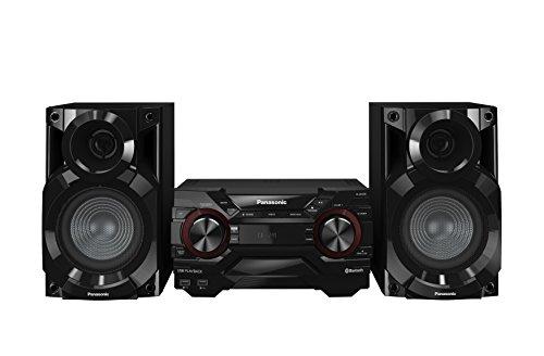 Panasonic SC-AKX200E-K Kompaktes CD Musiksystem (Bluetooth, Radio Tuner (FM/AM), 2x USB, AUX-IN, DJ Jukebox, 400 Watt RMS) schwarz
