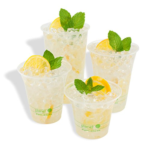 Planet + 100% Compostable PLA Clear Cold Cup, 16-Ounce, 1000-Count Case by Stalkmarket (Image #1)'