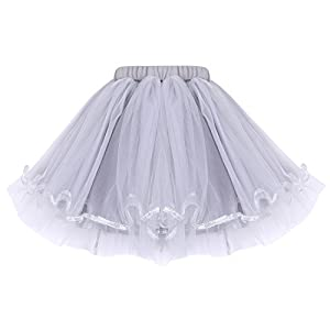 Neeseelily Baby Girls Clothes 2pc Cute T-Shirt+ Tulle Tutu Skirt Cartoon Outfit Set (White T-Shirt+ Skirt, 12-18 Months)