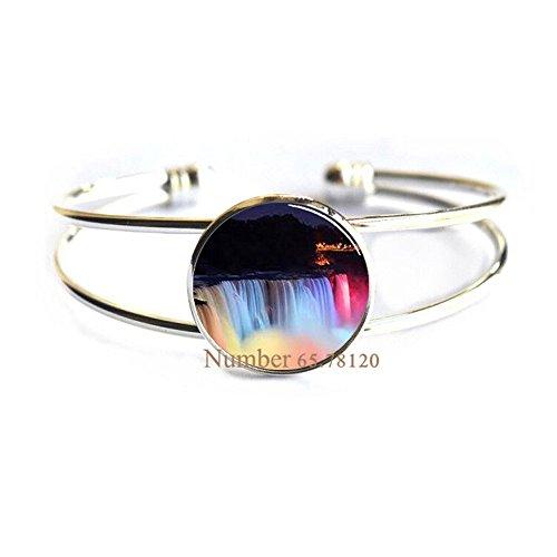 Yijianxhzao Niagara Falls at Night Bracelet, Photo Bangle,wedding jewelry glass jewelry,, BV143 (V1) -
