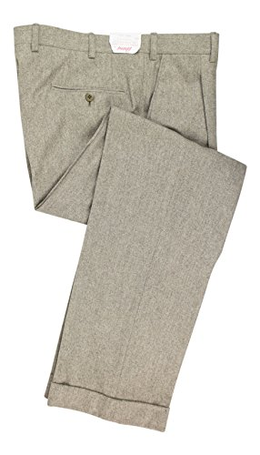 BRIONI Gheo Gray Wool Single Pleat Dress Pants Size 50/34 R