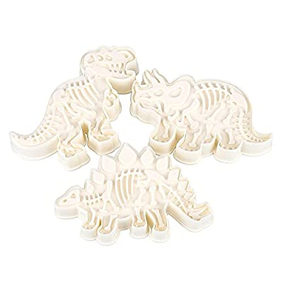 New Arrival Set of 3 Cute Dinosaur Shaped Cookie Cutters Tools Kitchenware Bakeware Decorative Tools
