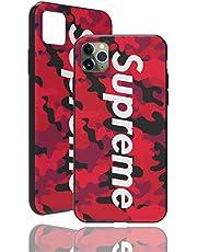 "SUP Camo Case [ Compatible con Apple iPhone 11 Pro MAX - 6.5"", in Rot ] Bolsa de diseño de Camuflaje Supreme a Juego - Cubierta a Prueba de Golpes - Militar - Superficie táctil 3D - Protectora"