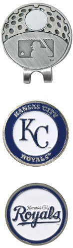 Team Golf MLB Kansas City Royals Golf Cap Clip with 2 Removable Double-Sided Enamel Magnetic Ball Markers, Attaches Easily to Hats (Kansas Golf Ball)