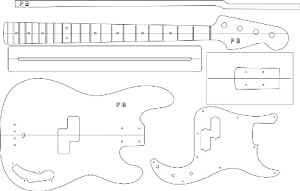 Amazon electric guitar routing template p bass musical amazon electric guitar routing template p bass musical instruments maxwellsz