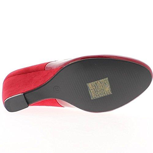 Compensación BI rojo con tacón de 7,5 cm