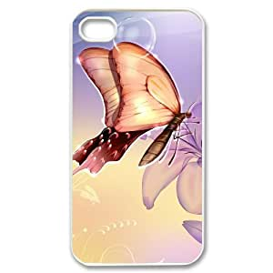 ZHANG Butterfly Case for Iphone 4,4s & Designed the Plastic Phone Case Back Cover for Iphone 4,4s