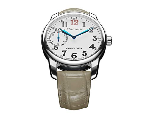 MOLNIJA GREENRAY Collection Men's Wrist Naval Mechanical Stainless Steel Watch With Blue Leather Strap