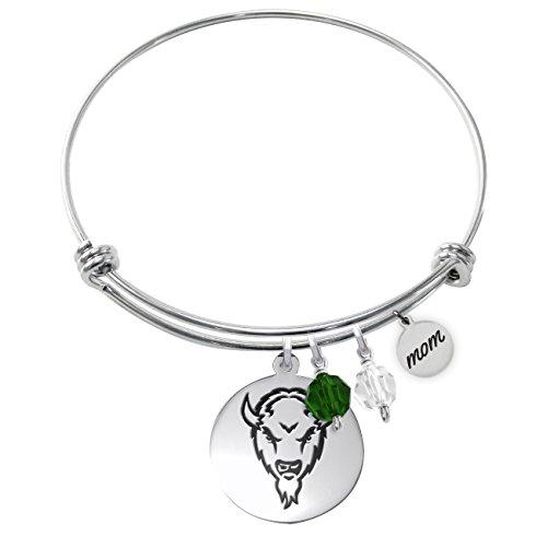 (Marshall University Thundering Herd Adjustable MOM Bracelet With Round)