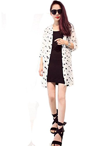 """Only Faith Women Summer Summer UV Protection Supersize Cardigan Quick Dry Jacket (XXL(chest: 42.52""""), white)"""
