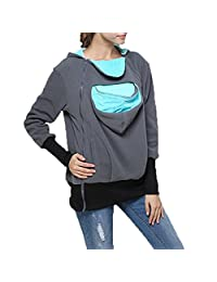 BTJP Hoodie Contraption,Womens Maternity Kangaroo Hooded Sweatshirt for Baby Carriers