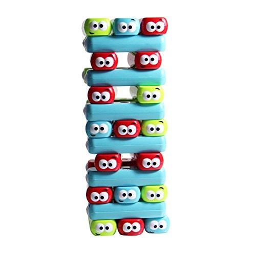 【ノーブランド品】プラスチック製 積み重ねる レンガ積み上げ 塔倒れ 卓上 遊び おもちゃ