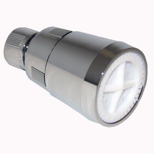 LASCO 08-2291 2 Gallon Per Minute Shower Head with Adjustable Spray Plastic Body, Chrome Plated Plastic