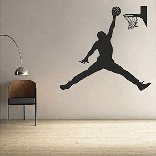 r Jordan Dunk Art NBA Boys Room Wall Decals Decor Vinyl Sticker SK9164 ()