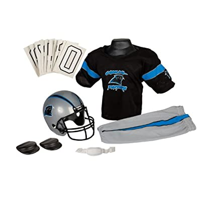 Franklin Sports NFL Carolina Panthers Deluxe Youth Uniform Set