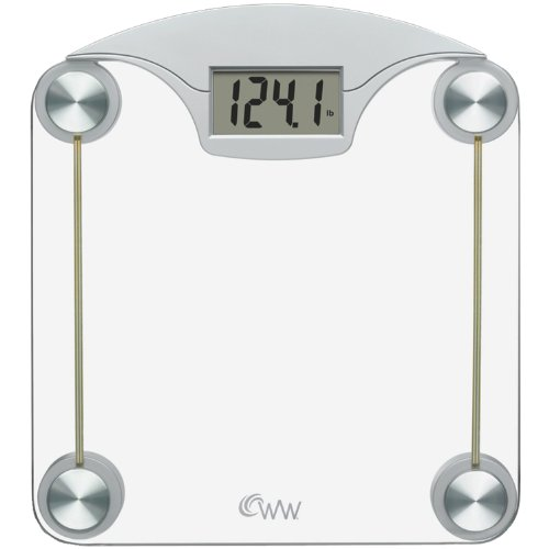 Weight Watchers Scales by Conair Digital Glass Weight Scale; Chrome / Clear Glass