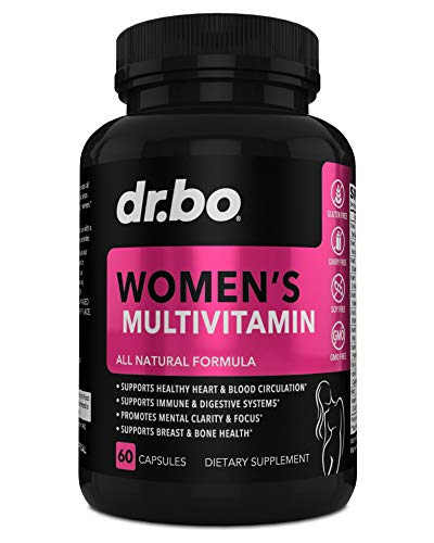 Womens Multivitamin – Natural Daily Multi Vitamins for Women – Vitamin C, D, E, Magnesium, Plus Zinc – Energy and Immune Support Supplement – Breast, Bone, Heart Health – Gluten, Dairy, Soy, GMO Free