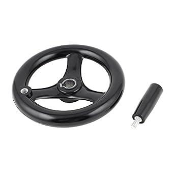 12*125mm 3 Spoke Round Plastic Hand Wheel for Milling Machine Lathe Black fyg