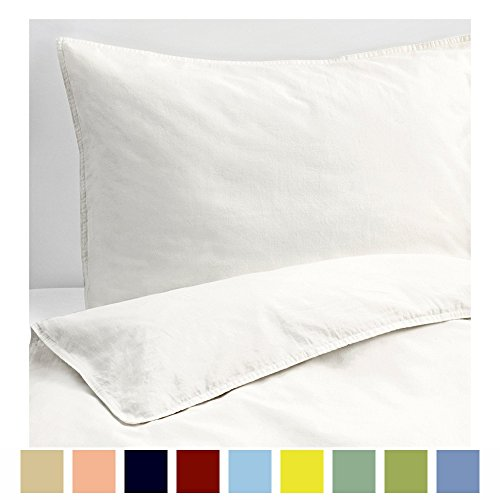 Kotton Culture Set of 2 Pillowcases Luxurious, Soft and Hypoallergenic 100% Egyptian Cotton 600 Thread Count Pillow Cover (Standard Size- Queen/Full/ Twin, White)